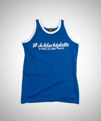 Schlachtplatte Surfertank Blau/Weiß